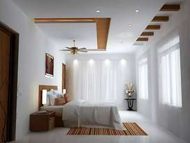 gipsum ceeling works and curtains