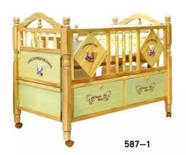 BABY WOODEN Cot& CRDLES SLEEPING BED