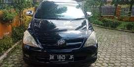 dijual inova thn 2008 warna hitam type G manual bensin bk panjang