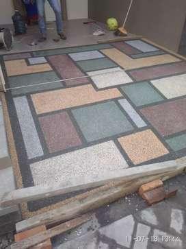 Lantai motif, motif dan batu alam