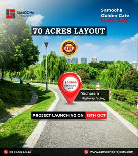 Pre Launched DTCP Open plots for sale at Yacharam- Facing-book Pre -AA
