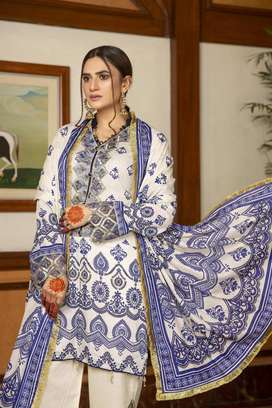 Summer Lawn 3 piece suit PR-2034 (sale dress)