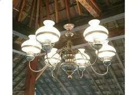 Produksi lampu antik Gantungan  asli Kuningan Hias Dinding Joglo