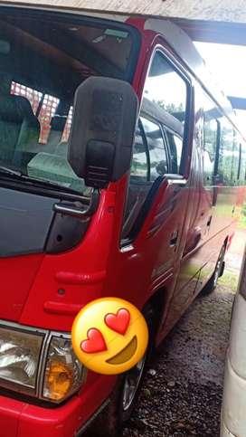 ISUZU ELF Thn 2015/2016 REd buss Parawisata mantap