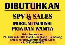 Dibutuhkan Supervisor & Sales Mobil Pria Wanita