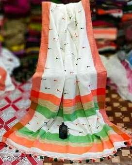 Women's khadi sarees with6 colours
