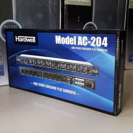 new crossover Aktif Hardwell AC204 ORYGINAL stereo 4way + SUBWOOFER