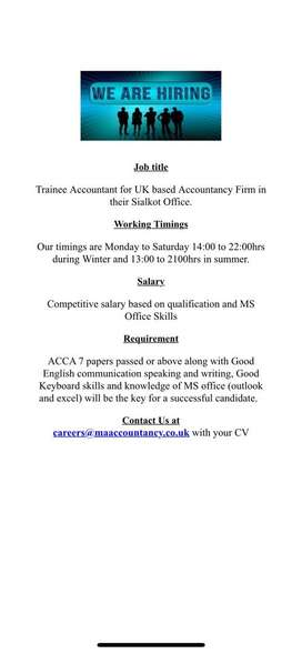 ACCA 7 papers or above