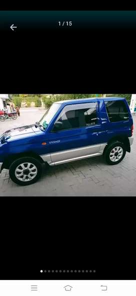 A well home used jeep import 95/6 registered in Multan...