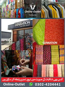 Generation Brand's new stuff Unstiched from factory outlet