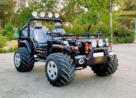Modified black hunter jeep