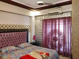 GROUND RESIDENTIAL FURNISH TWO BEDROOMS FLAT FOR RENT IN BAHRIA ph 1