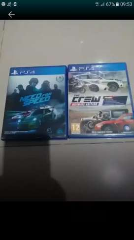 Kaset PS4 THE CREW dan NFS