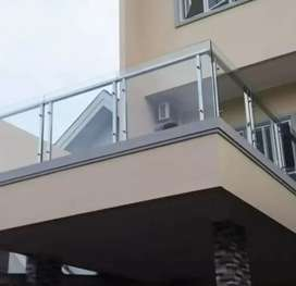 Balkon stanlis kaca berkualitas dan elegan SLB 3244