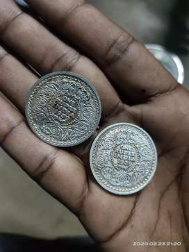 Indian coins king and queen