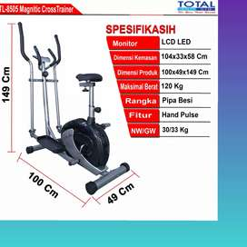 sepeda statis elliptical crostrainer TL-8505 D-82