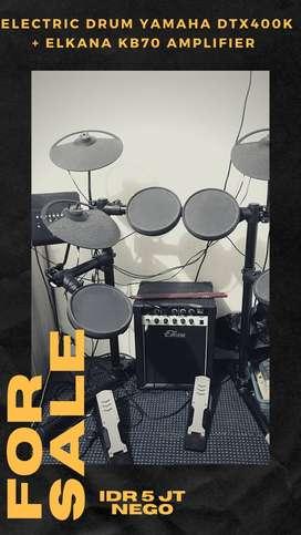 Electric drum YAMAHA DTX400K + Elkana KB70 Amplifier