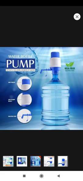 Manual Water Pump Dispenser For 19 liter Water Cans  - Blue & White |