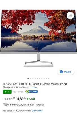 Hp 23.8 inch monitor seal packed new at just rs 11999