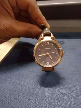 Ladies branded fossil watch