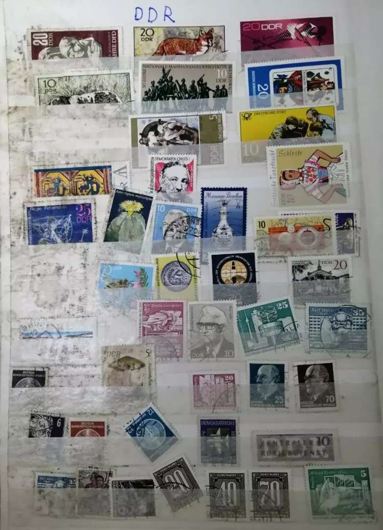 Antiuqe Postage stamps book