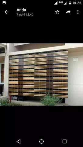Krey kayu motif outdoor 1117
