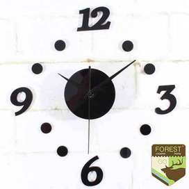 AyooDropship - Jam Dinding DIY Giant Wall Clock Quartz Creative Design