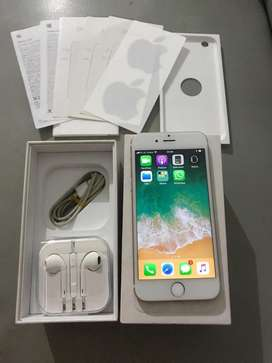 iPhone 6 16GB GOLD 4G LTE Lengkap Ex inter Minus Finger lain normal