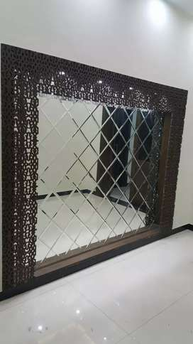 Glass designing wall