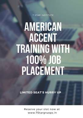 Training American accent with job placement