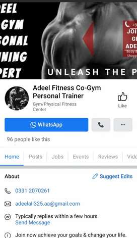 Personal Fitness Training Expert for male & females only karachi