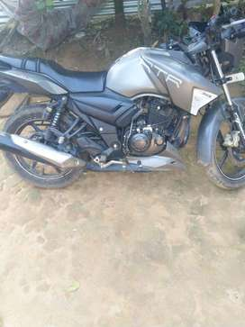 Tvs apache rtr 160 grey clour 2016 years brand new condition