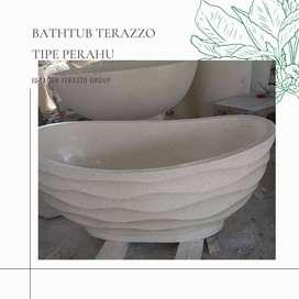 Bathtub terazzo tipe Gelombang Finishing Glossy P160