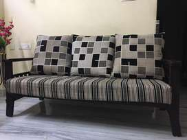 Wooden Sofa set (3+1+1) in good condition
