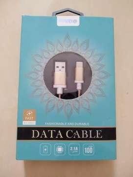 Kivee Kabel Data Gold Emas Android Type-C USB Fast Charge