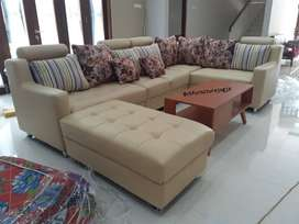 Sofa L  sambung + mejaa , harga Ekonomis