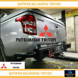 Bemper triton hilux dmax navara tanduk bumper dcabin