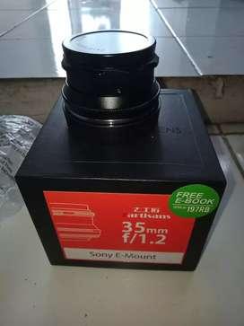 Lensa fix 7artisans 35mm f/1.2 untuk Sony e-mount