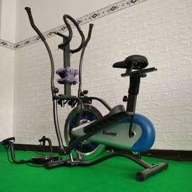 Alat Fitness Sepeda Statis Orbitrack Plat - Orbitrek Multifungsi