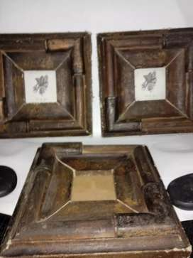 Vintage Picture Frame Leather Wall Hanging for sale