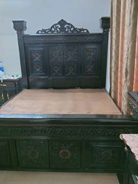 Chinioti style bed ,side and dressing tables