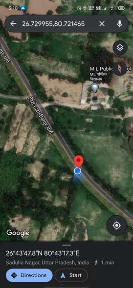 23144 sq feet land for sale only for 75 lakhs.