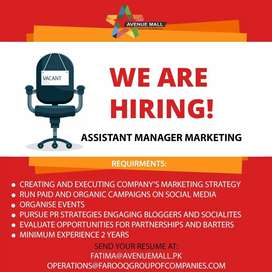 Assistant Manager Marketing