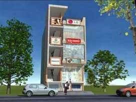 Showroom cum Flat on Chandigarh-Delhi Main Highway Attractive location