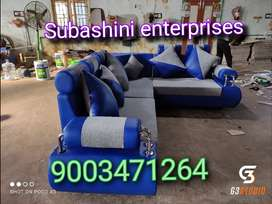 Different shades of blue colour full custom made sofa manufacturing