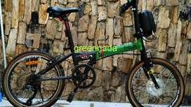 sepeda listrik ebike sepeda lipat 20 inchi baterai baru