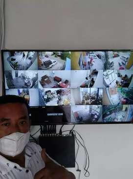 PAKET LENGKAP CAMERA CCTV FULL HD ANTI MALING BISA PANTAU DIHP