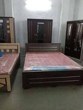 Brand New double bed and almirah wholesale rates