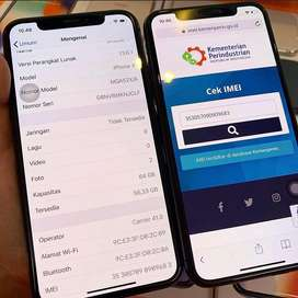 Iphone x 64gb silver 2nd imei terdaftar di kemenperin