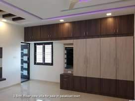 Luxurious 3 BHK River view villa for sale in palakkad town in 5 cent
